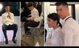 Cristiano Ronaldo with fiancée arrive Madrid for opening hair transplant centre CR7